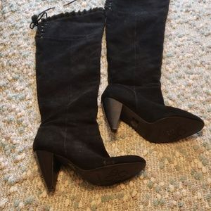 BCBG suede tall boots